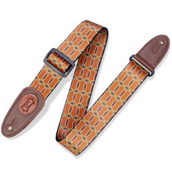 Levy's Signature Icon Guitar Strap - Brown/Tan, 2