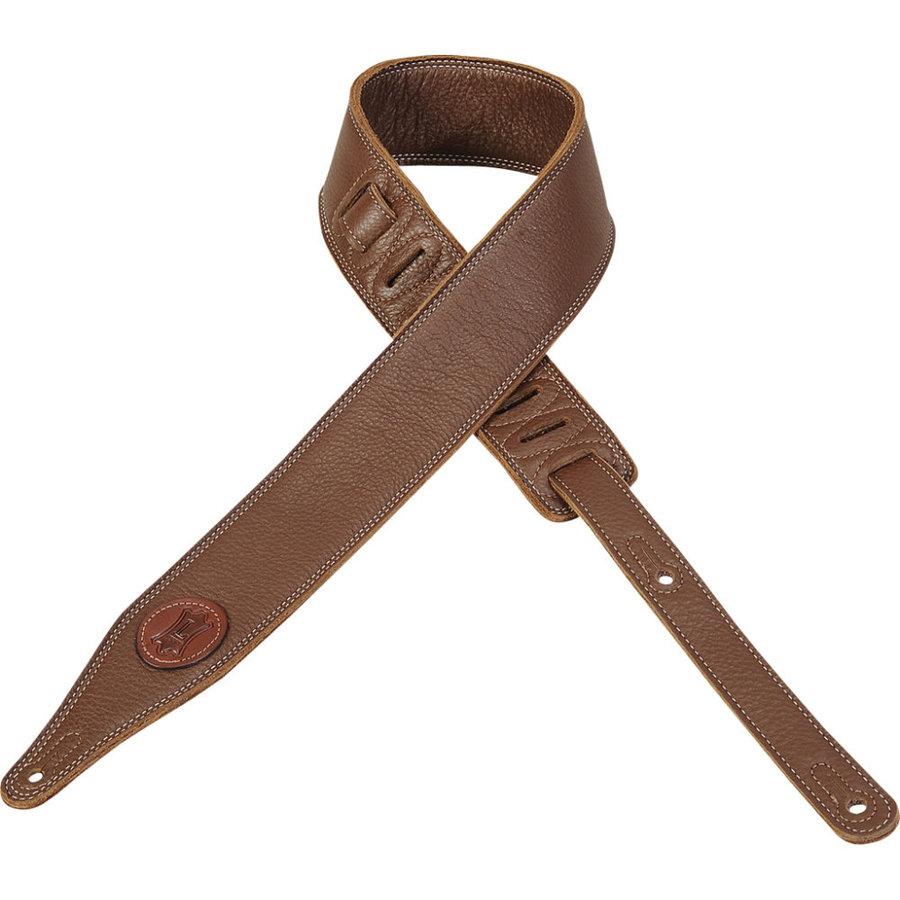 View larger image of Levy's Signature Series Leather Guitar Strap - Brown, 2 1/2
