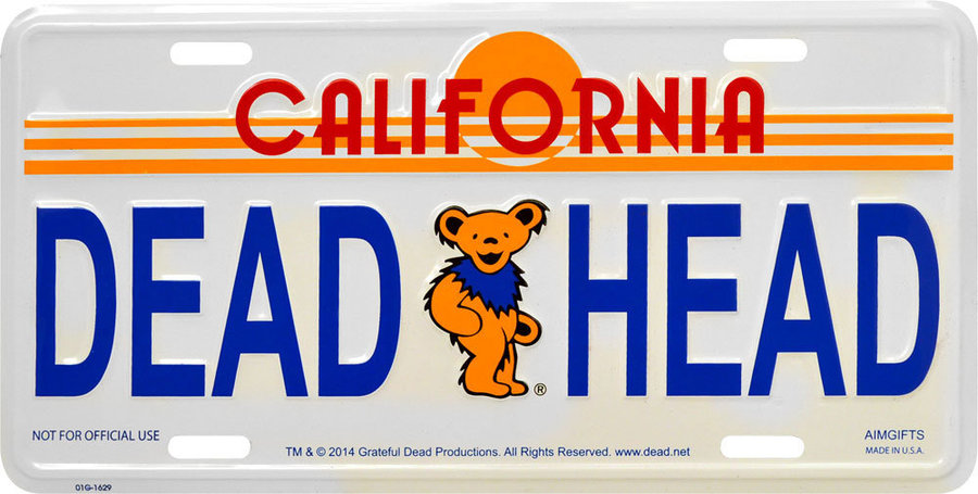 View larger image of Grateful Dead Dead Head California License Plate