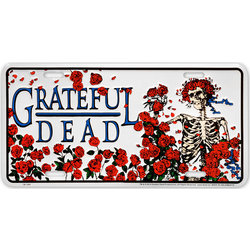 Grateful Dead Skull with Roses License Plate