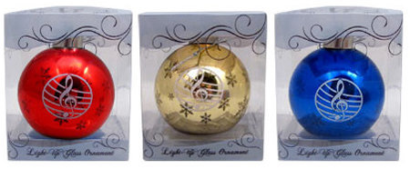 View larger image of Light Up LED G-Clef Staff Ornaments - Assorted