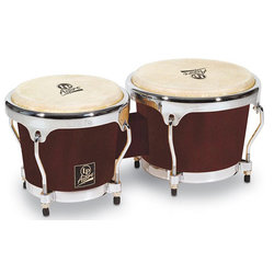 LP Aspire Wood Bongos - Dark Wood, Black