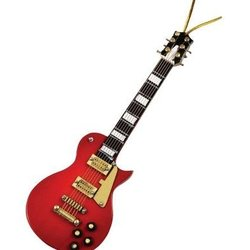 LP Electric Guitar Ornament - Red