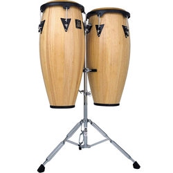 LP LPA646 Congas with Stand - Natural Wood