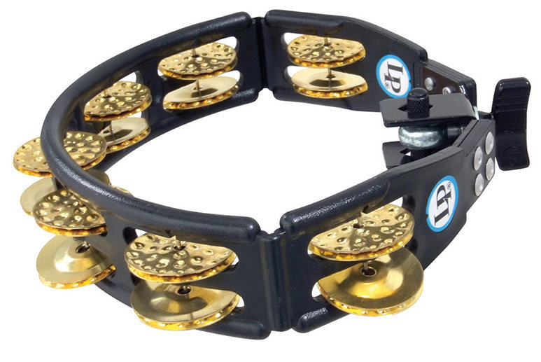 View larger image of LP Mountable Cyclops Jingle Tambourine with Brass Jingles - Black