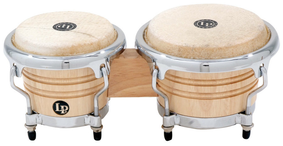 View larger image of LP Music Collection Mini Tunable Bongos - Natural Wood