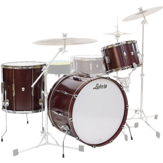 View larger image of Ludwig Club Date Downbeat 3-Piece Shell Pack - 20/14FT/12, Cherry Satin