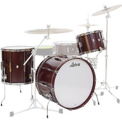Ludwig Club Date Downbeat 3-Piece Shell Pack - 20/14FT/12, Cherry Satin