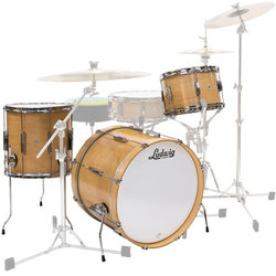 Ludwig Club Date Downbeat 3-Piece Shell Pack - 20/14FT/12, Natural Satin