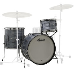 Ludwig Club Date FAB 3-Piece Shell Pack - 22/16FT/13, Vintage Black Oyster