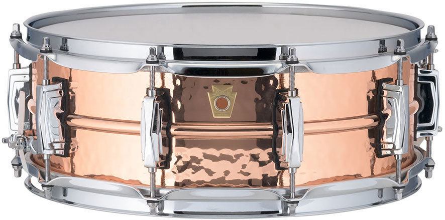View larger image of Ludwig Copperphonic Copper Hammered Snare Drum - 5 x 14, Imperial Lugs