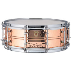 Ludwig Copperphonic Hammered Copper Snare Drum - 5 x 14, Tube Lugs