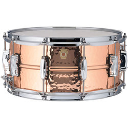 Ludwig Copperphonic Hammered Snare Drum - 6.5 x 14, Imperial Lugs