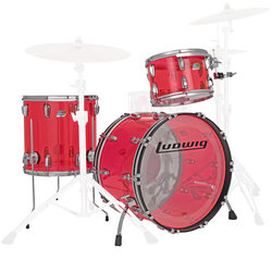 Ludwig Vistalite FAB 3-Piece Shell Pack - 22/16FT/13, Pink
