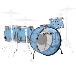 Ludwig Vistalite ZEP 5-Piece Shell Pack - 26/14SD/18FT/16FT/14, Blue