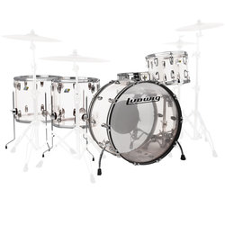 Ludwig Vistalite ZEP 5-Piece Shell Pack - 26/14SD/18FT/16FT/14, Clear