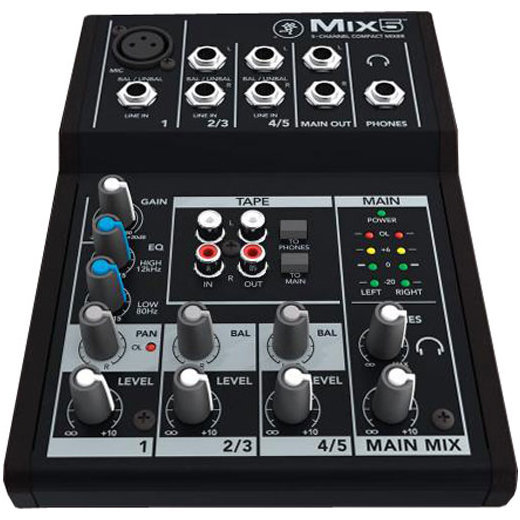 View larger image of Mackie Mix5 5-Channel Compact Mixer