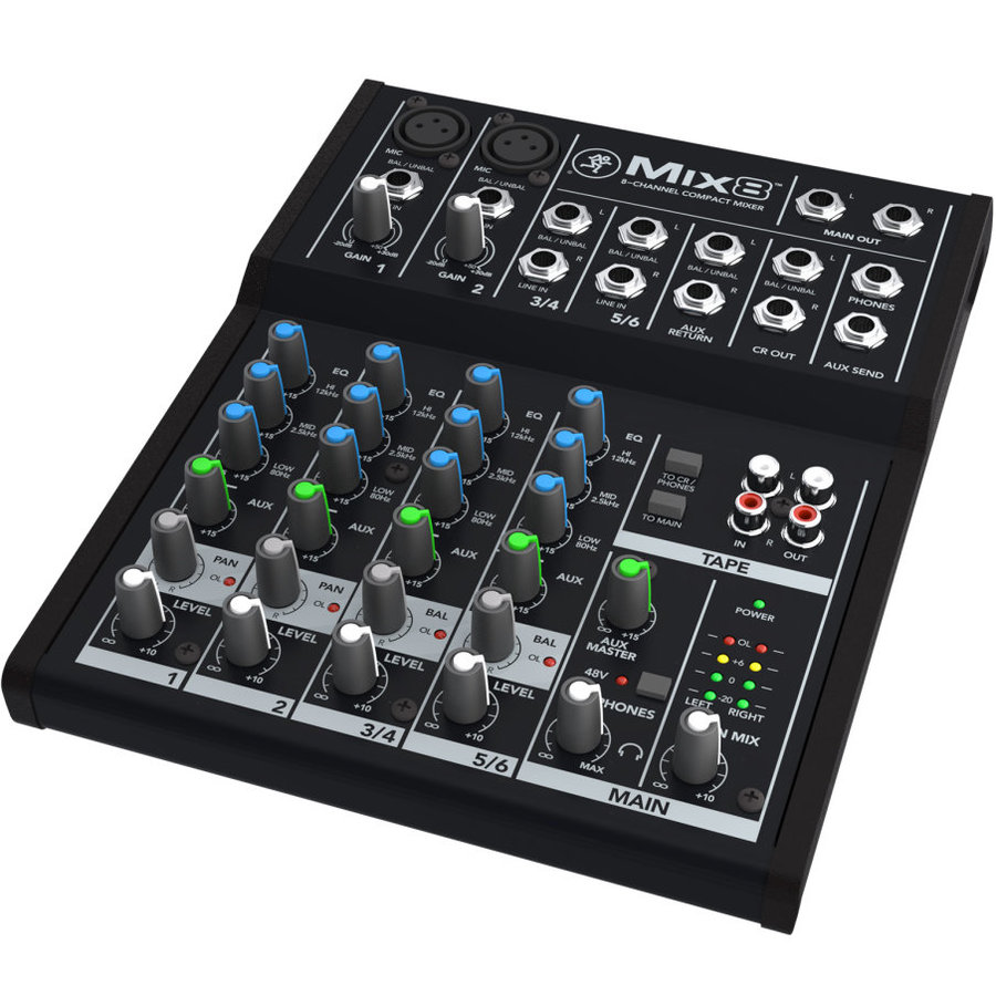 View larger image of Mackie Mix8 8-Channel Compact Mixer