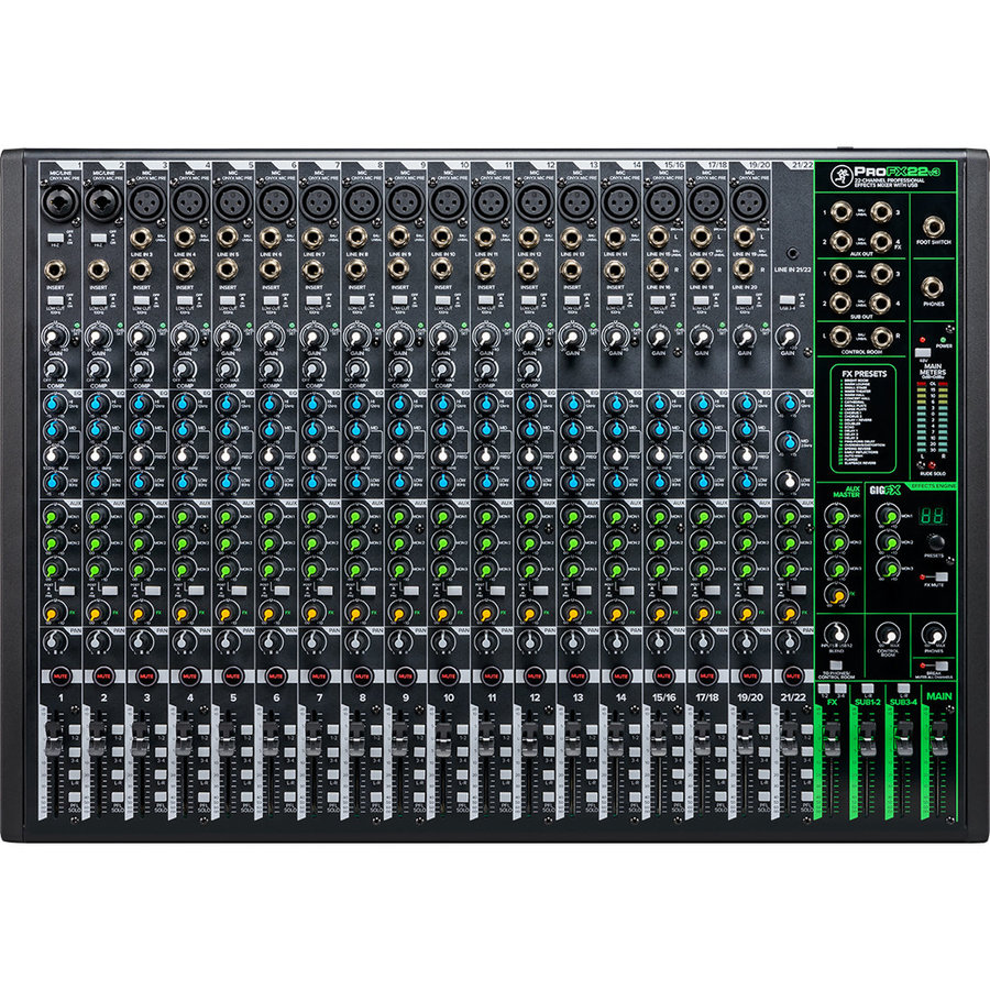View larger image of Mackie ProFX22v3 Professional Effects Mixer