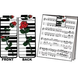 Magnetic Rose on Keyboard Bookmark