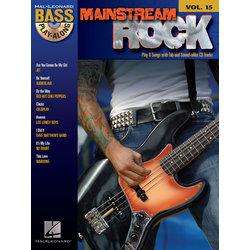 Mainstream Rock - Bass Play-Along Volume 15 w/CD