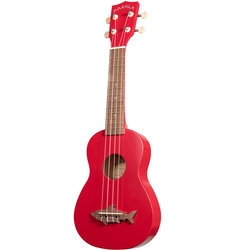 Makala Shark Soprano Ukulele - Red Sea