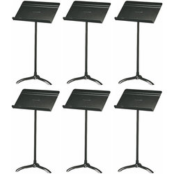 Manhasset 48 Standard Symphony Music Stand - Black, Box of 6