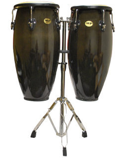 View larger image of Mano Percussion MP1601 Double Congas - Black, 10/11