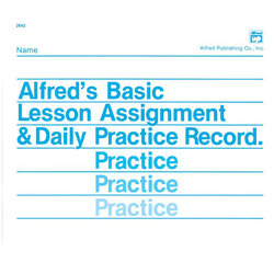 Manuscript Alfreds Basic Lesson Assignment & Daily Practice