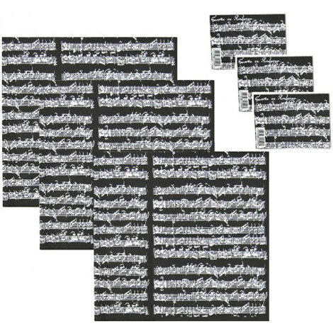View larger image of Manuscript Gift Wrap - Black