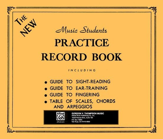 View larger image of The New Music Students Practice Record Book