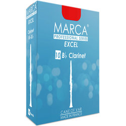 Marca Excel Bb Clarinet Reeds - #2.5, 10 Box