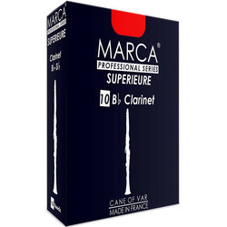 Marca Superieure Bb Clarinet Reeds - #3, 10 Box