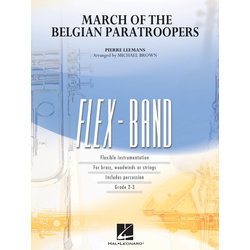 March of the Belgian Paratroopers - Score & Parts, Grade 2-3