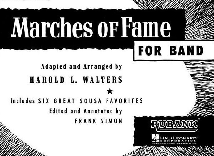 View larger image of Marches of Fame for Band - Clarinet 1