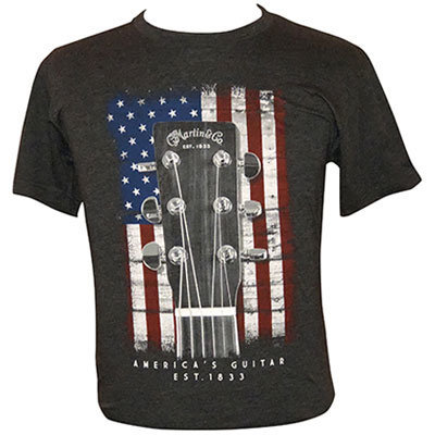 View larger image of Martin American Flag T-Shirt - Charcoal, Small