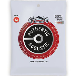 Martin Authentic Lifespan 2.0 Acoustic Guitar Strings - 92/8, Light