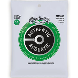Martin Authentic Marquis Silked Acoustic Guitar Strings - 12 String, 92/8, Extra Light