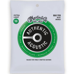 Martin Authentic Marquis Silked Acoustic Guitar Strings - 80/20, Extra Light