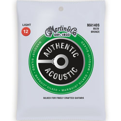 Martin Authentic Marquis Silked Acoustic Guitar Strings - 80/20, Light