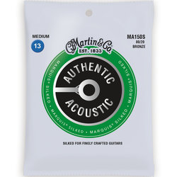 Martin Authentic Marquis Silked Acoustic Guitar Strings - 80/20, Medium