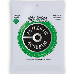 Martin Authentic Marquis Silked Acoustic Guitar Strings - 92/8, Extra Light
