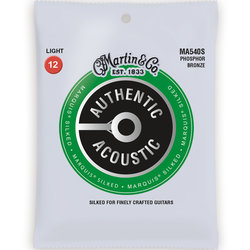 Martin Authentic Marquis Silked Acoustic Guitar Strings - 92/8, Light