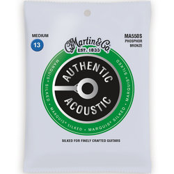 Martin Authentic Marquis Silked Acoustic Guitar Strings - 92/8, Medium
