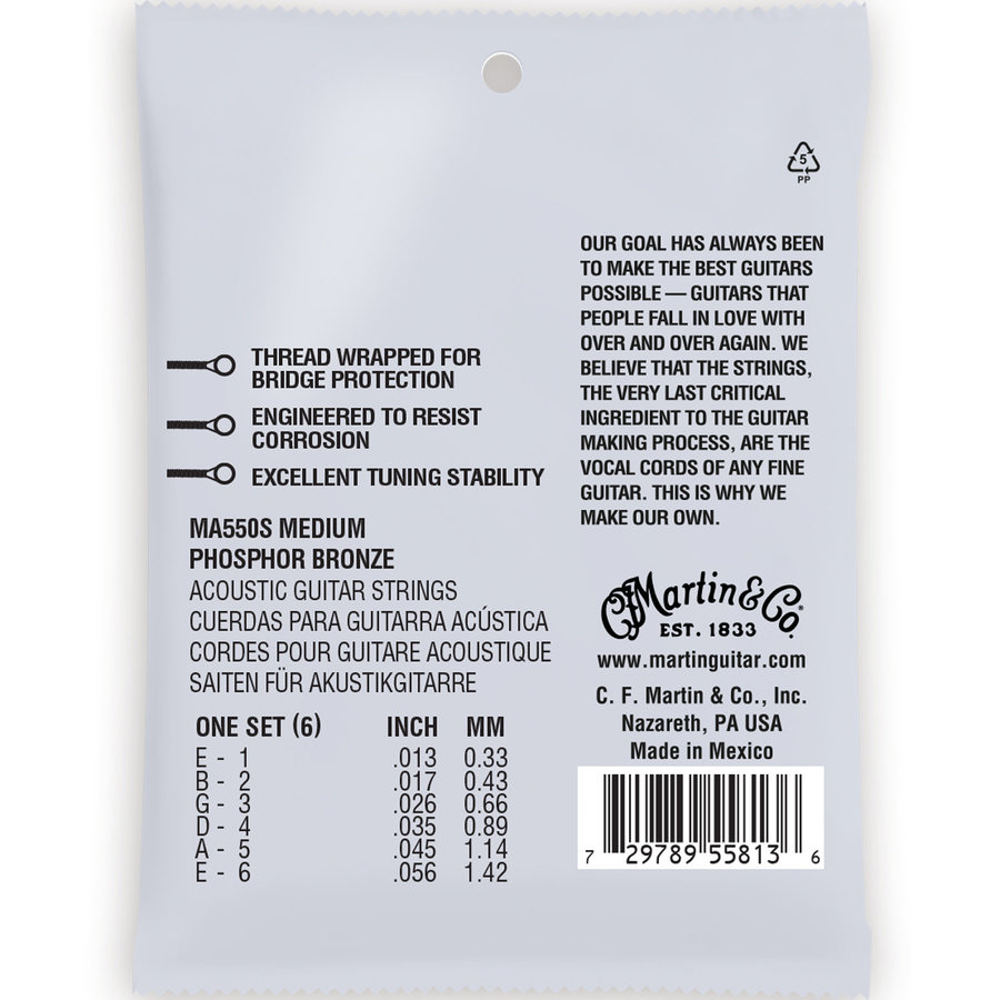 View larger image of Martin Authentic Marquis Silked Acoustic Guitar Strings - 92/8, Medium