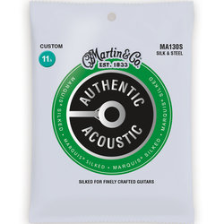 Martin Authentic Marquis Silked Acoustic Guitar Strings - Silk  &  Steel, 11.5 - 47