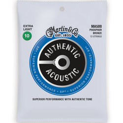 Martin Authentic SP Acoustic Guitar Strings - 12 String, 92/8, Extra Light