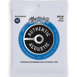 Martin Authentic SP Acoustic Guitar Strings - 80/20, Blue Grass