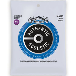 Martin Authentic SP Acoustic Guitar Strings - 80/20, Custom Light