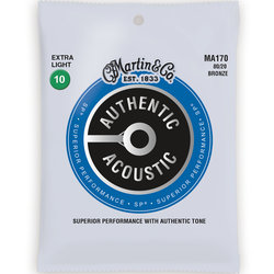 Martin Authentic SP Acoustic Guitar Strings - 80/20, Extra Light